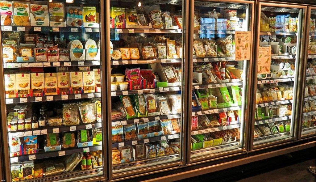 Supermarket Fridge Produce Food